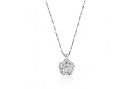 Collana Agnese in oro bianco e diamanti