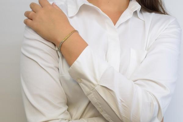 Браслет Кармен из белого золота и бриллианта