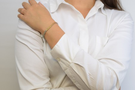 Carmen bracelet in white gold and diamond