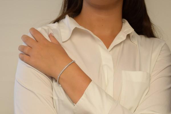 Bracciale Evelina in oro bianco e diamante