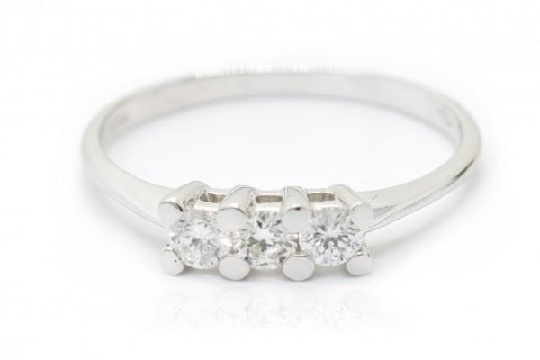 Trilogy Rachele in oro bianco e diamanti