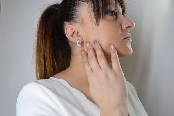 Marta earrings white gold and aquamarine