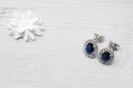 Nada white gold and sapphire earrings