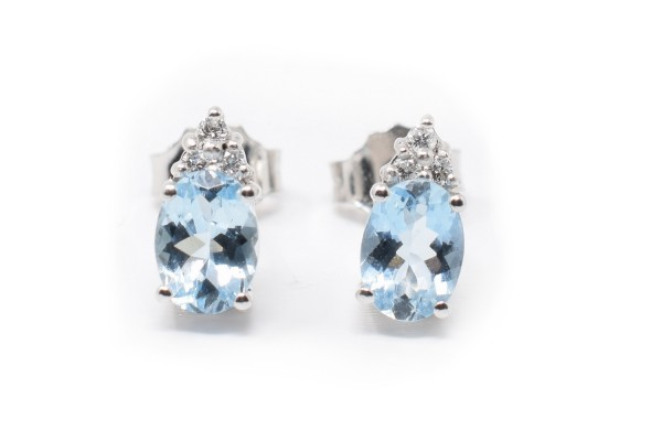 Carla white gold and aquamarine earrings