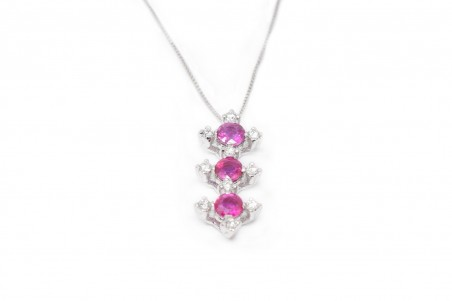 Allegra pendant in white gold and ruby