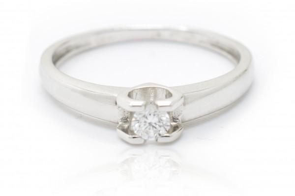 Solitario Sofia in oro bianco e diamante