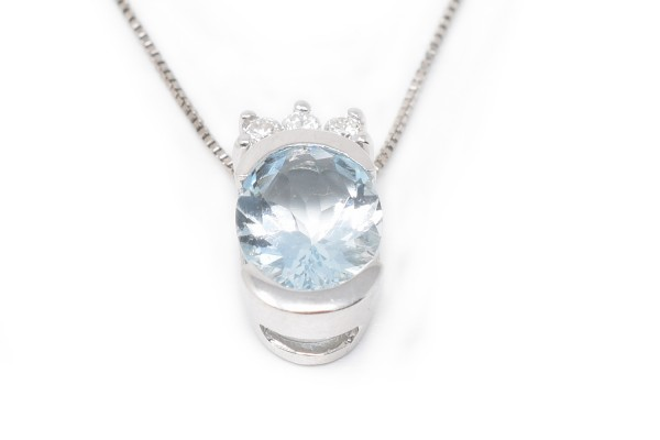 Pendant Katia white gold and aquamarine