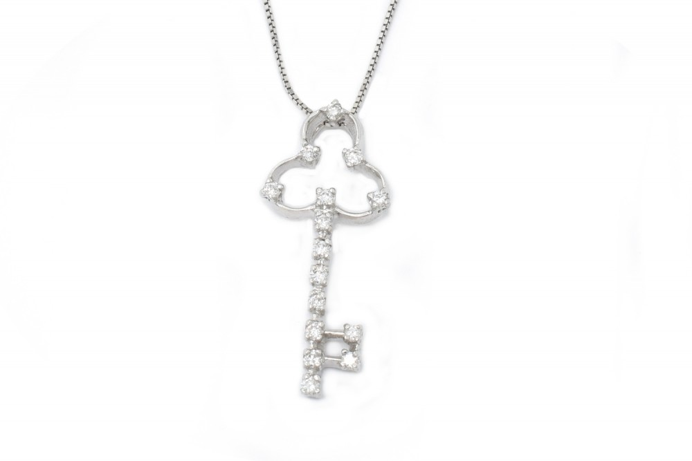 Pendant Clare white gold and diamonds