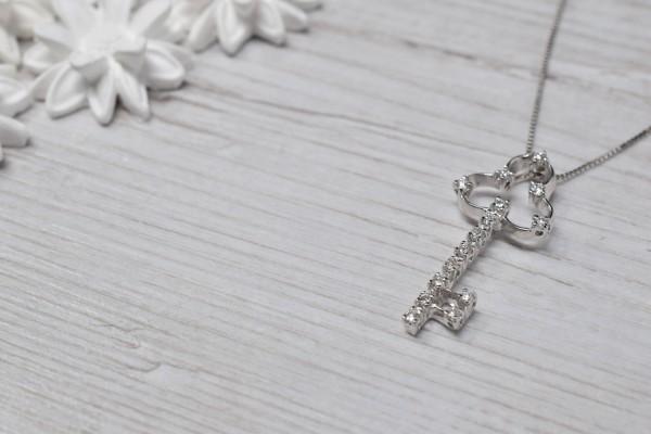 Pendant Clare white gold and diamonds