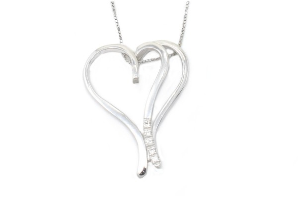 Pendant Alba white gold and diamonds
