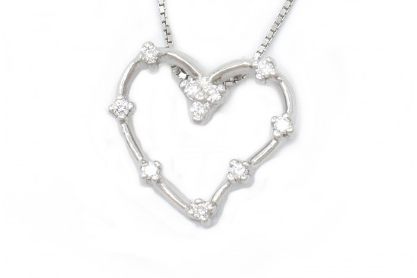 Pendant Luisa white gold and diamonds