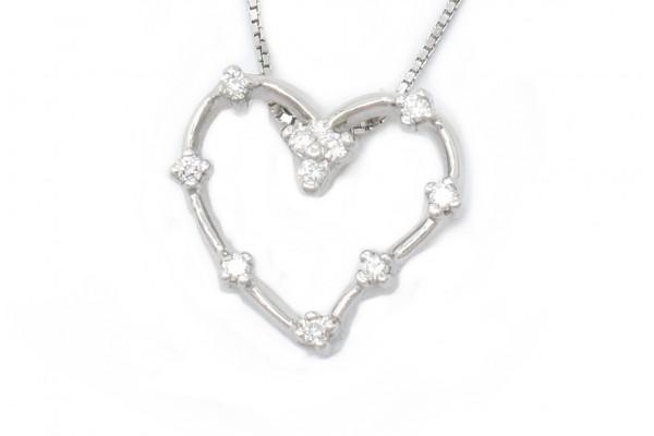 Pendente Luisa oro bianco e diamanti