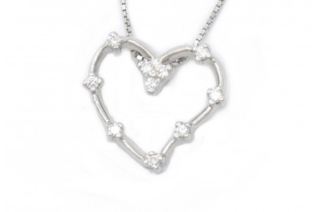 Pendant Luisa white gold and diamonds