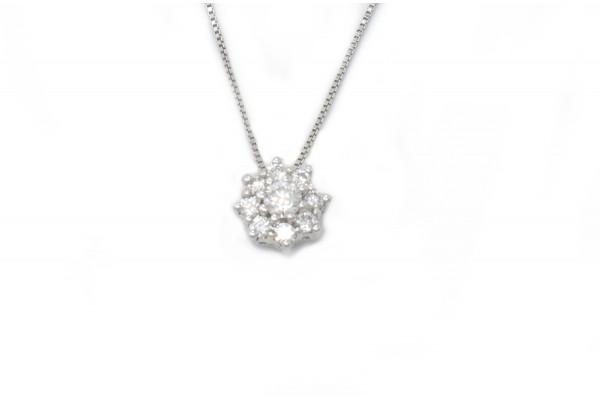Ludovica Anhänger in Weißgold und Diamanten