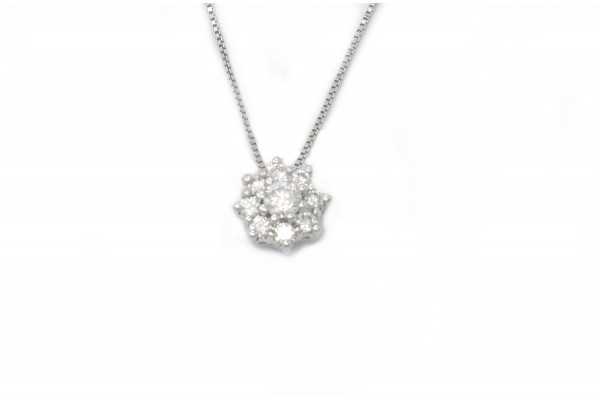 Pendentif Ludovica en or blanc et diamants