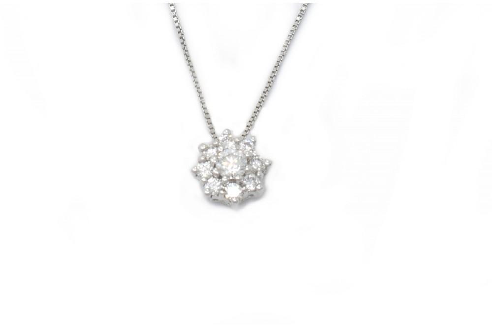 Ludovica pendant in white gold and diamonds