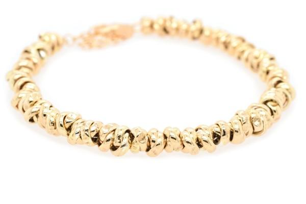 Bracciale Ambra in argento placcato oro, rosa e rodiato