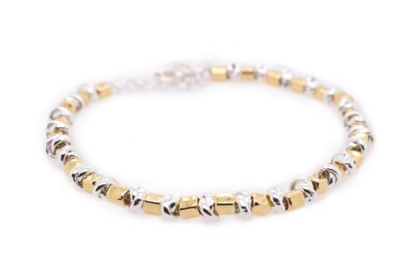 Bracelet Paola en or, rose et argent plaqué rhodium